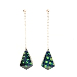 Acrylic Faceted Dangle Earrings (300 ppi)