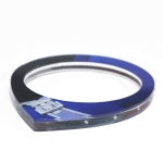 Blue Oval Bangle with Flush Set Stones