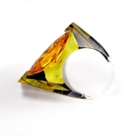 Citrine Sculpted Channel Set Ring 3