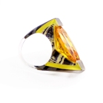 Citrine Sculpted Channel Set Ring