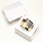 Double Channel Corian and Silver Ring with Smokey Quartz & Citrine in box