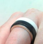 Glacier White - Anthricite Corian Stacking Rings 2
