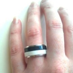 Glacier White - Anthricite Corian Stacking Rings 3