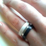 Glacier White - Anthricite Corian Stacking Rings 4