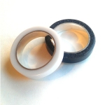 Glacier White - Anthricite Corian Stacking Rings