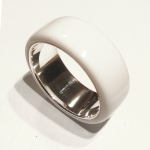 Glacier White Corian Men's Wedding Band 1