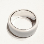 Glacier White Corian Men's Wedding Band 2
