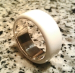 Glacier White Corian Men's Wedding Band 4