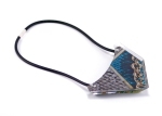 Green Pattern - Snake Skin Geo Bib Necklace 2