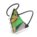 Green Pattern - Snake Skin Geo Bib Necklace 4
