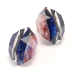 Galaxy Faceted Post Earrings