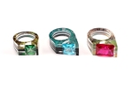 Large Gem Tapered Rings net