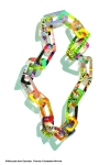 Layered Acrylic Chain Link Necklace 1