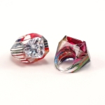 Fancy Carved Rings with Large Channel Set Gems