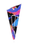 Stripes - Colorful Segments Triangle Brooch 1