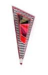 Stripes - Colorful Segments Triangle Brooch 3
