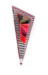 Stripes - Colorful Segments Triangle Brooch 3