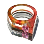 The Point Ring with Channel Set Gems