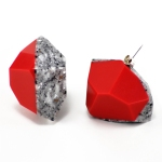Hot - Platinnum Faceted Corian Earrings