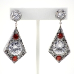 Platinum Corian Diamond Dangle Earrings